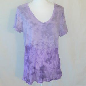 🔥🔥 A Fine Mess Purple Tie Dye V-Neck T-shirt XXL
